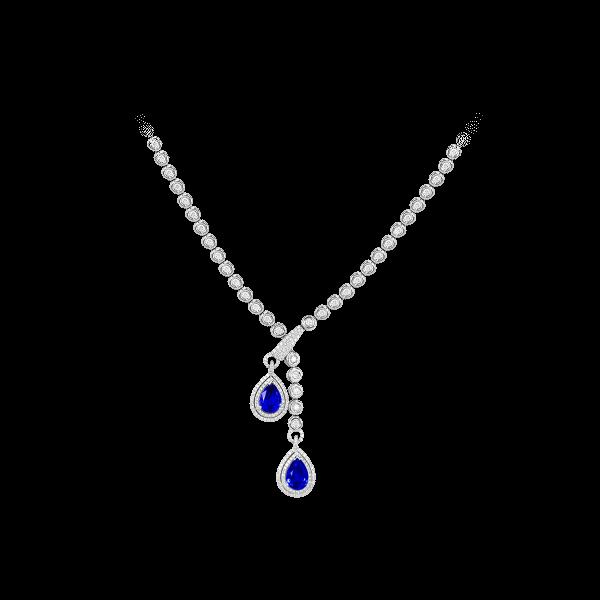 露凝-·-蓝宝石钻石项链