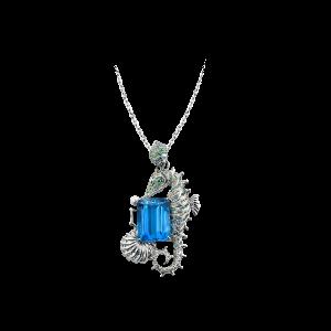 含珠蕴海·海马托帕石项链