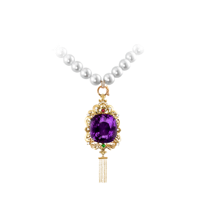 宫廷年华·珍珠紫晶挂坠