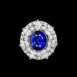 繁花绽放-·-蓝宝石满钻戒指2