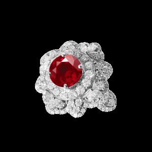 花冠-·-红宝石满钻戒指