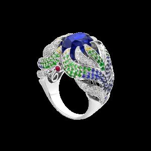 轻舞海藻-·-蓝宝石戒指