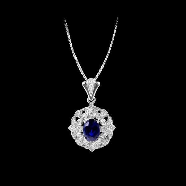 卢浮记忆·蓝宝石吊坠