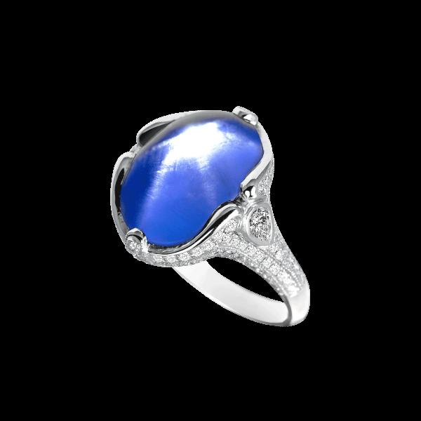 复古星光蓝宝石戒指