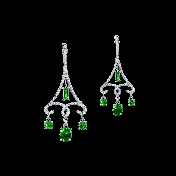 巴黎迷思-·-沙弗莱石耳坠
