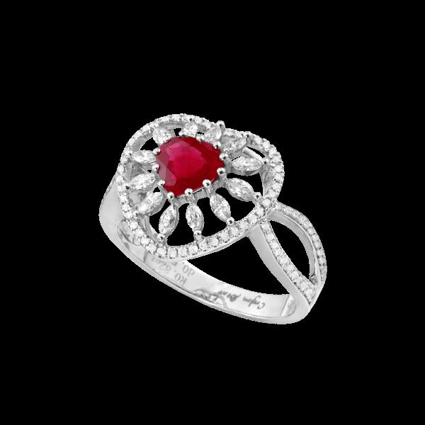 时光秘钥-·-红宝石镶钻戒指