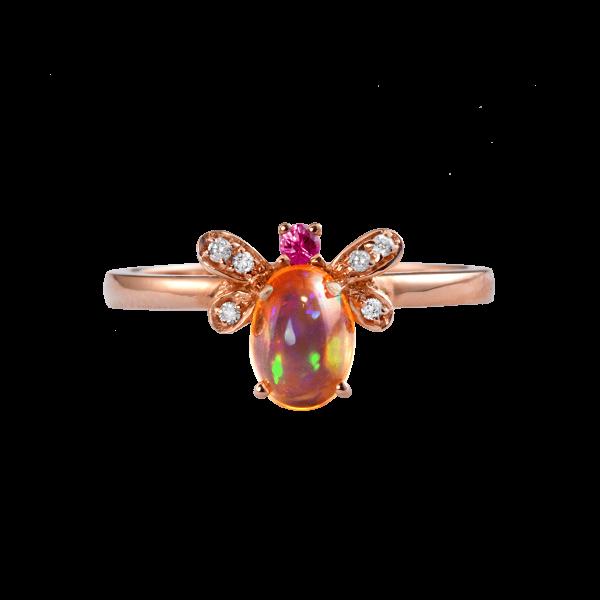 蜜蜂-·-欧泊戒指