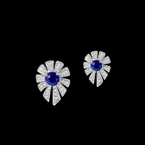 光芒蓝宝石耳钉