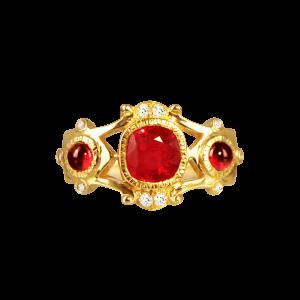 复古宫廷红宝石戒指
