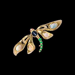 游憩蜻蜓-·-变彩宝石胸针