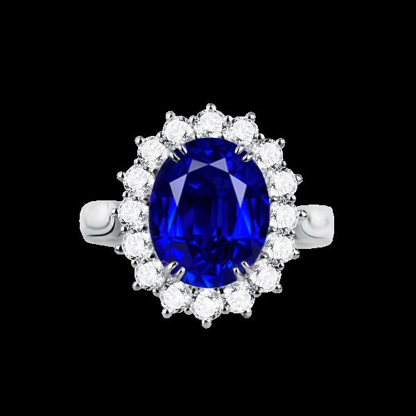 经典皇家款蓝宝石钻石戒指