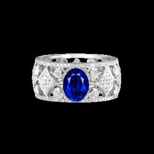 镂空花式蓝宝石戒指