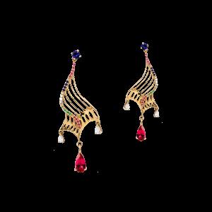 1蝶舞·红宝石耳坠